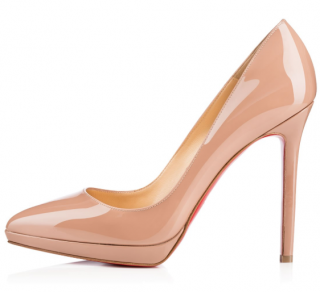 Christian Louboutin Pigalle Plato Nude Patent Leather 100mm