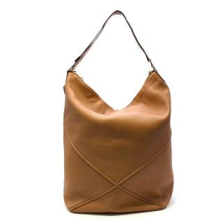 Loewe Brown Leather Oversized Hobo Bag - Season 2019