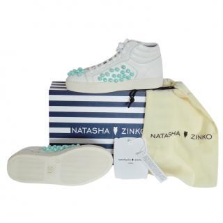 Natasha Zinko Pearl-Embellished High-Top Trainers