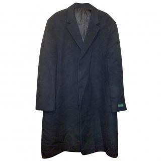 Lauren by Ralph Lauren Big & Tall Black Wool Winter Coat