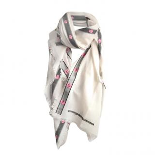 Alexander McQueen Wool and Silk-belnd Scarf