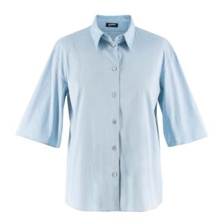 Jil Sander Blue Cotton Boxy Shirt