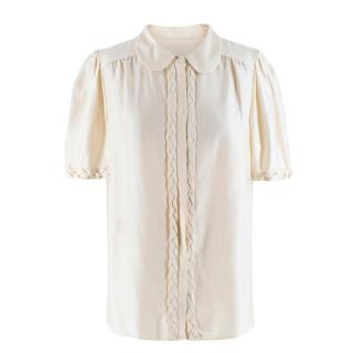 Chloe Silk Braided Detail Blouse