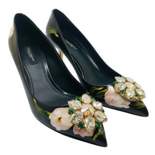 Dolce & Gabbana Tulips Crystal-Embellished Pumps