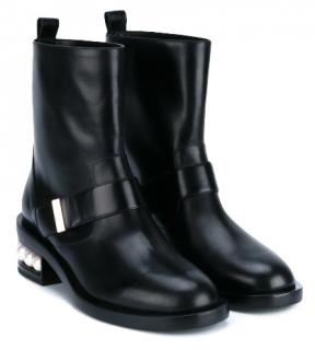 Nicholas Kirkwood Pearl-Heeled Biker Boots
