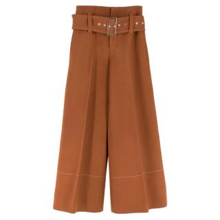 Celine Brown Belted High Waisted Culottes
