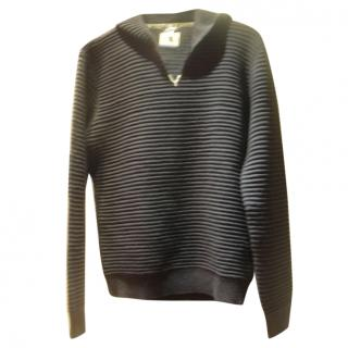 Armani Jeans Wool-Blend Chunky Hooded Sweater