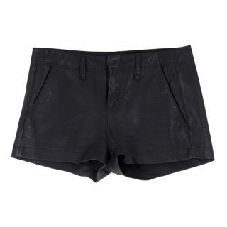 Rag & Bone Perforated Leather Shorts