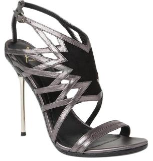 Brian Atwood Marseille Pewter sandals