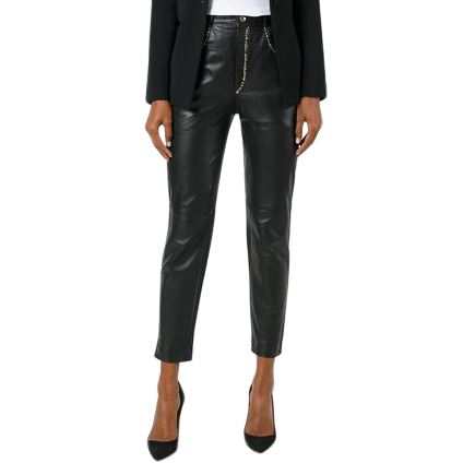 Gianni Versace Studded Skinny Leather Trousers