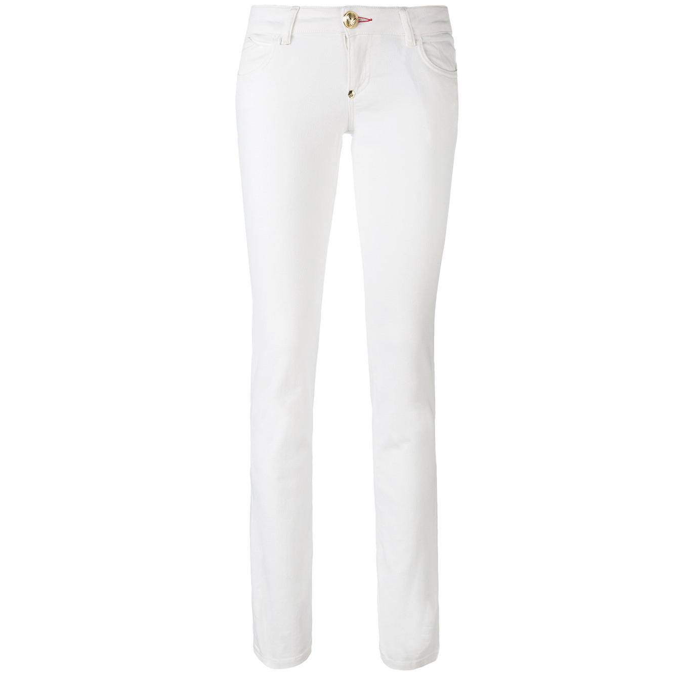 Phillip Plein Hippie Fox St Tropez-Fit White Jeans