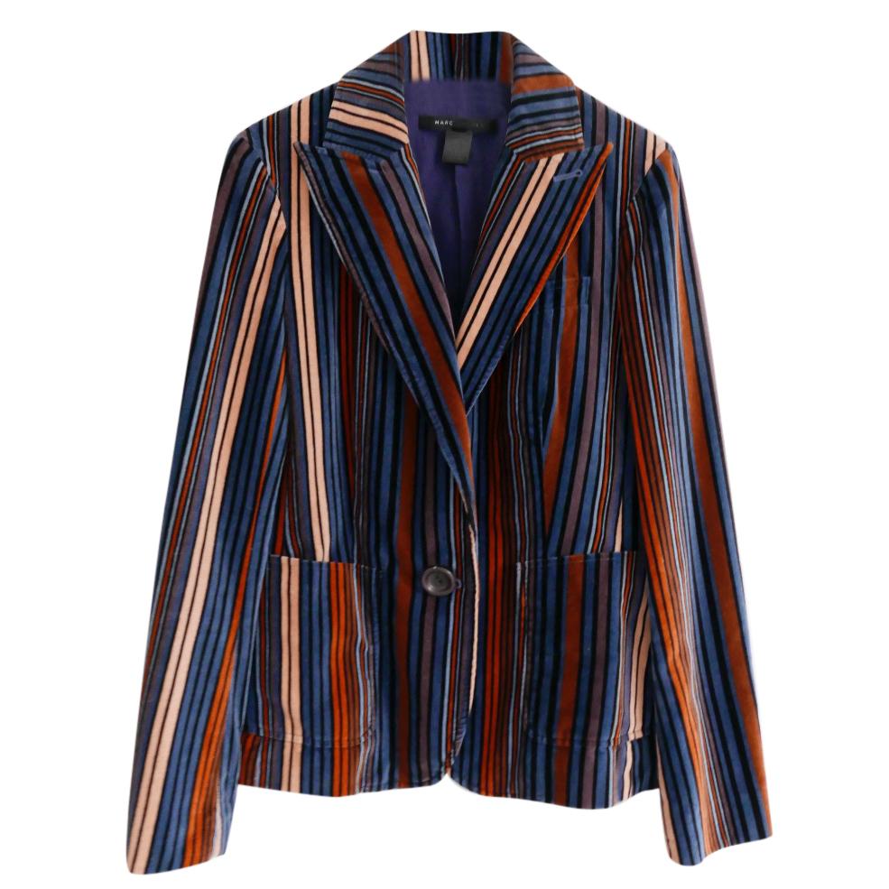 f1c9b9e96b1f Marc By Marc Jacobs Jewel Tone Striped Velvet Jacket | HEWI London