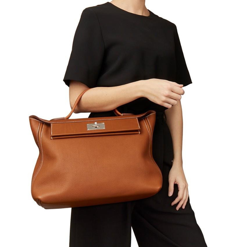 bf73b0ea4546 Hermes Veau Barenia   Barenia Faubourg Leather 24 24 35cm Bag. 23.  12345678910