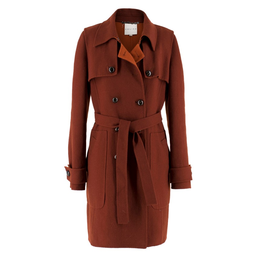 Celine Burgundy Wool Coat