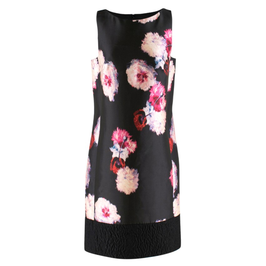 e93acf76a834b5 Giambattista Valli Floraljacquard Sleeveless Shift Dress
