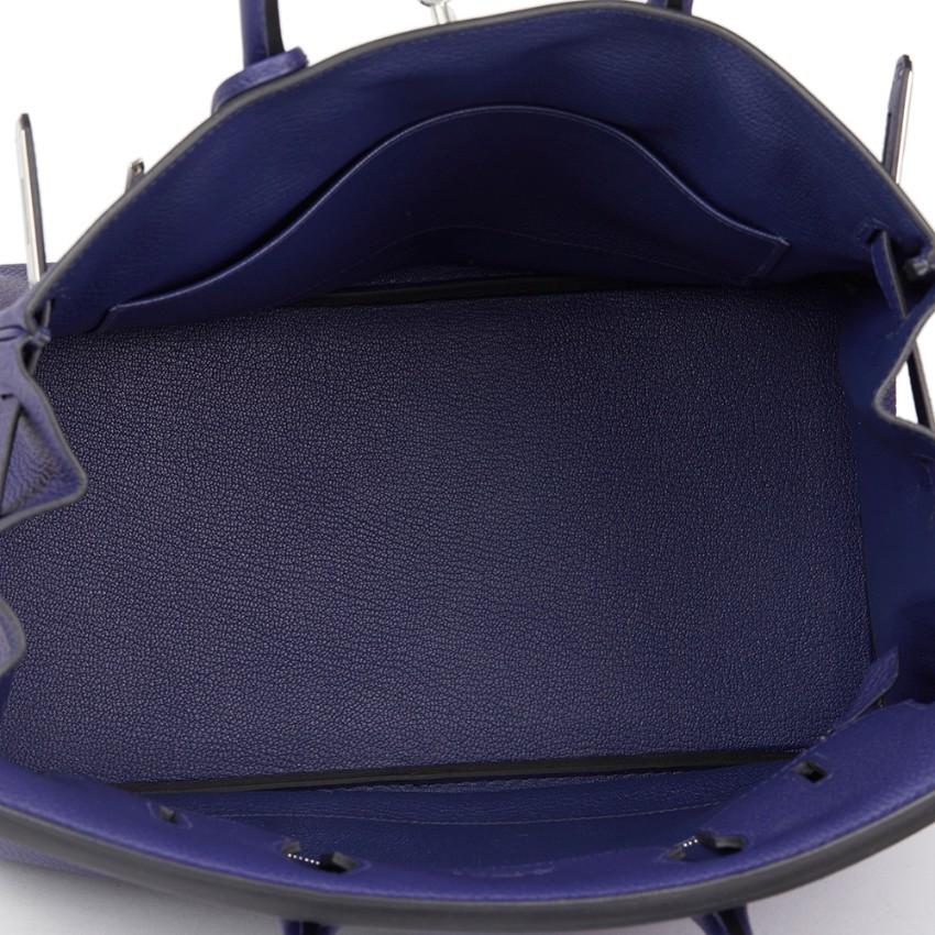 539b73cfe340 Hermes Togo Blue Encre Leather Birkin 30cm. 23. 123456789