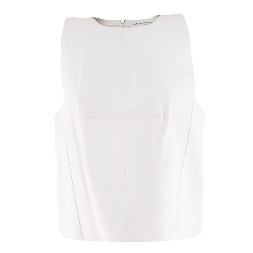 Amanda Wakeley Off-White Nezet Leather Top