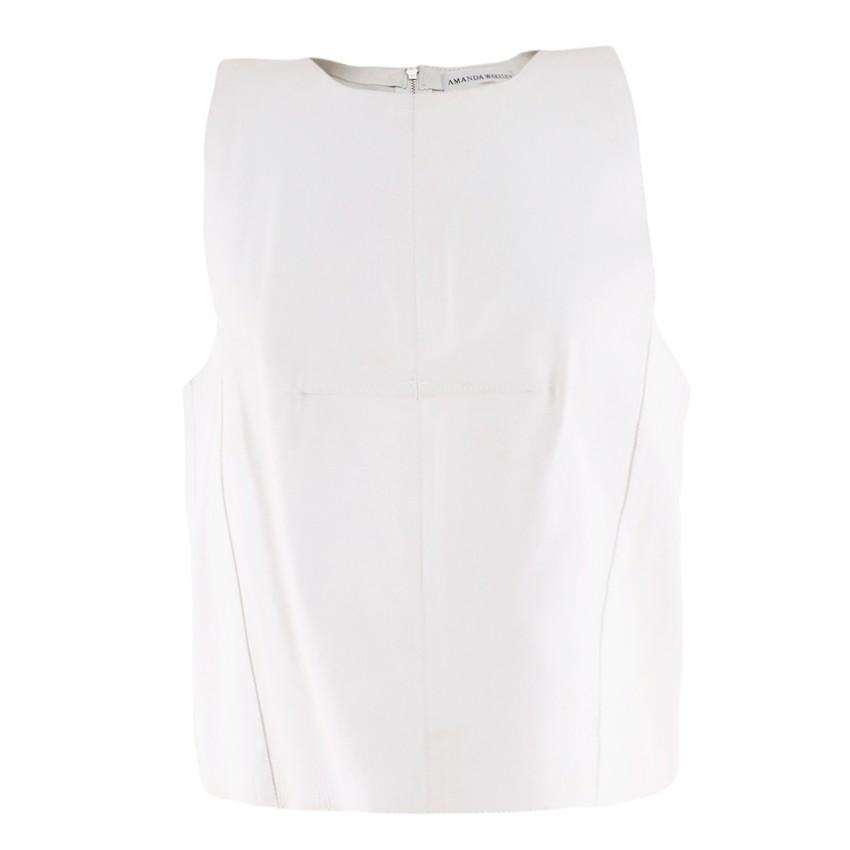 Amanda Wakeley Off-White Nezet Leather Top