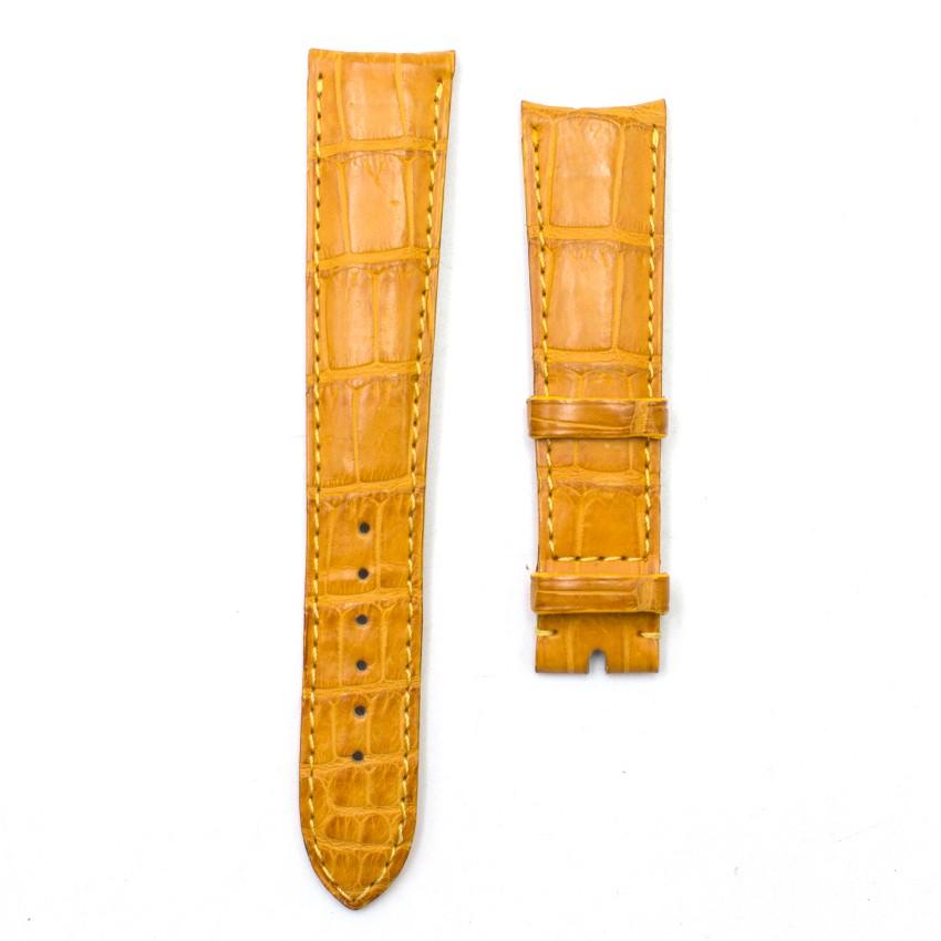 Chopard Mustard Alligator Leather Watch Strap