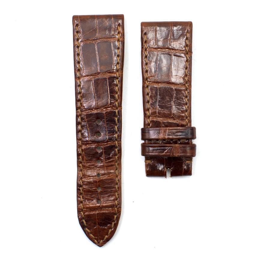 Chopard Brown Shiny Alligator Leather Watch Strap