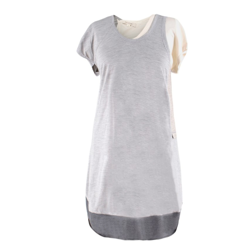 Marc Jacobs Grey Double-Layered T-shirt Dress