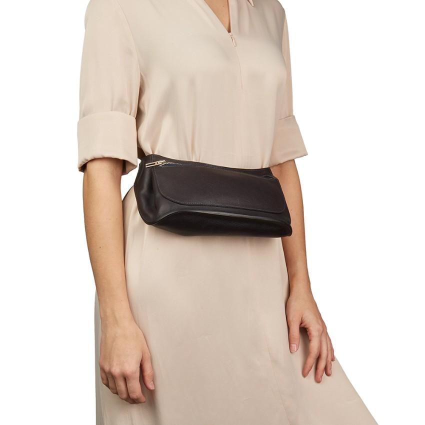 d044a13df1f5 Hermes Evercalf Leather Belt Bag