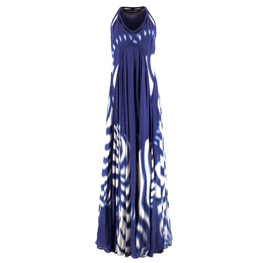 Roberto Cavalli Tie-Dye Print Silk Maxi Dress