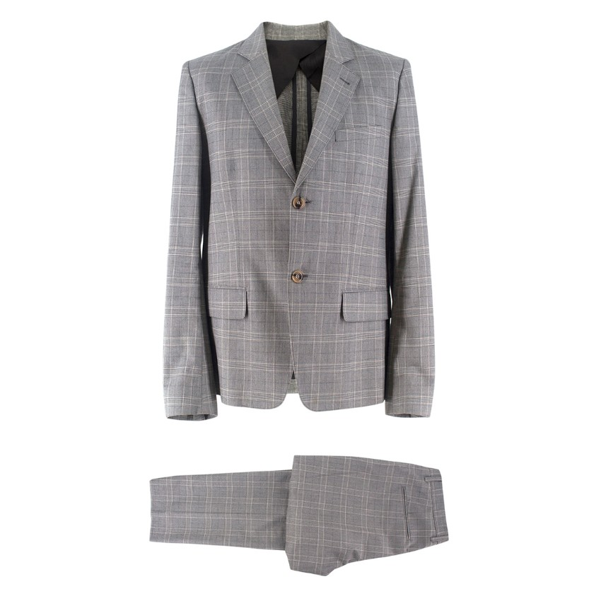 A.P.C Grey Checked Suit