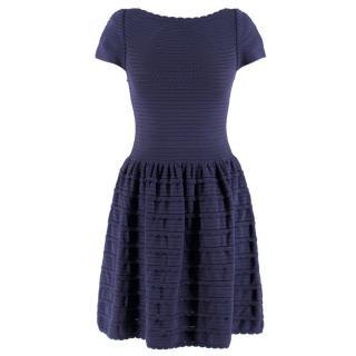 Valentino Blue Scalloped Dress