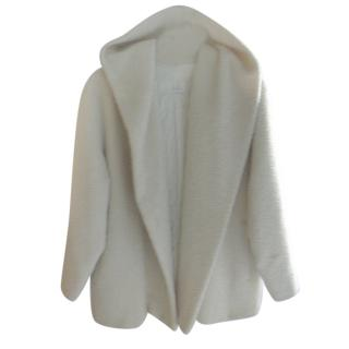 Max Mara Ivory Hooded Coat