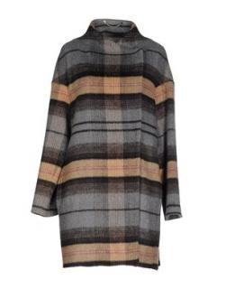 Marella tartan plaid coat