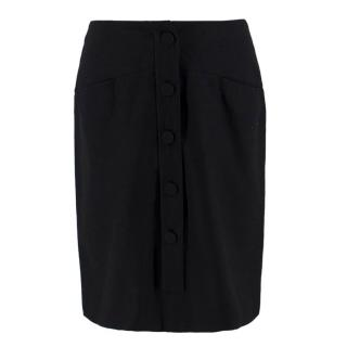 Chloe Wool and Cotton Black Skirt