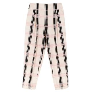 Temperley London Check Peg Trousers