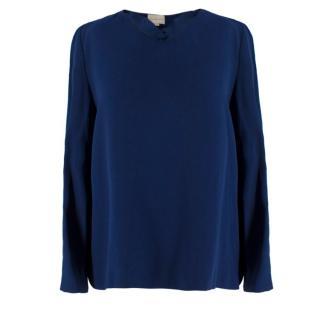 Stella McCartney Midnight Blue V-Neck Top