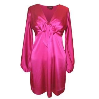 Hale Bob pink silk dress