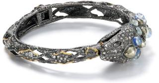 Alexis Bittar Hardin De Papillon Embellished Snake Bangle