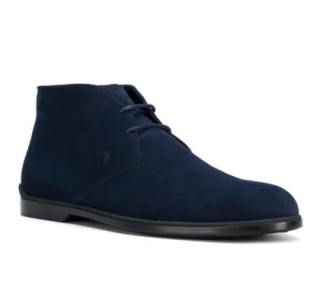 Tod's Blue Suede Chukka Boots