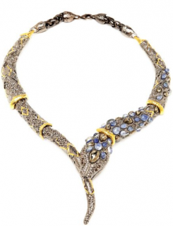 Alexis Bittar Papillon Snake Crystal Necklace