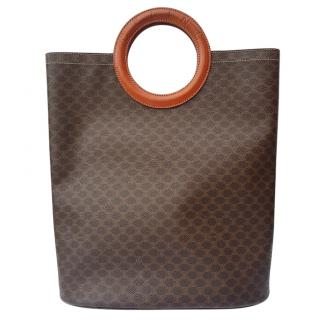 Celine Vintage Monogram Brown Tote Bag