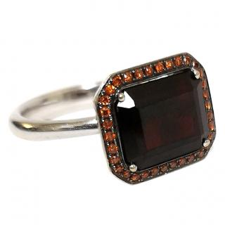 Annoushka camelion Garnet & Diamond Ring 18ct Gold