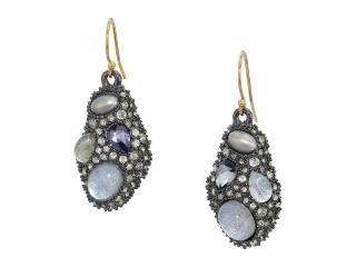 Alexis Bittar Stone Cluster-Drop Wire Earrings