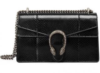 Gucci Black Python Dionysus Bag
