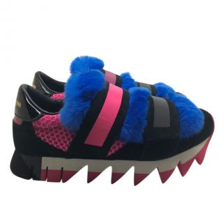 Dolce & Gabbana rabbit trimmed fur trainers
