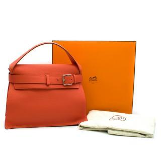Hermes 'Sac Etribelt' Capucine Togo Leather Bag