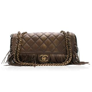 Chanel Brown Paris-Dallas Fringe Flap Bag