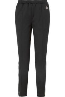 Moncler Black Striped Jersey Track Pants