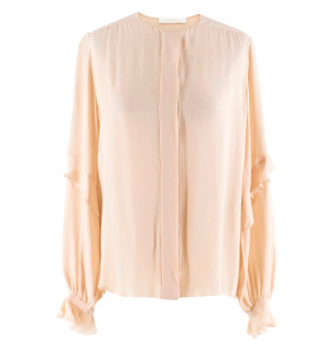 Chloe Blush Silk Blouse