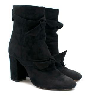Alexandre Birman Black Suede Ankle Boots