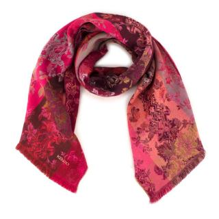 Kenzo Wool-blend Floral-Jacquard Scarf