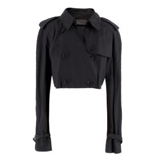 Burberry Black Cropped Trench Jacket